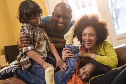families having fun